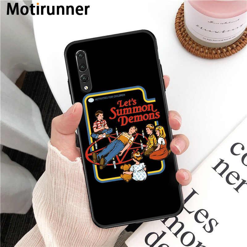 De Halloween divertido Satanás suave de silicona TPU caja del teléfono funda para Huawei P9 10 lite P20 pro lite P30 pro lite Psmart amigo 20 pro lite