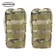 2PCS Military Vest Waist Pack Water-resistant Compact Bag Tactical Molle Pouches