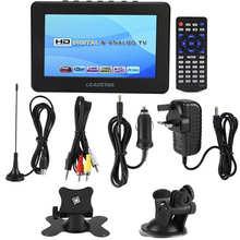 LEADSTAR DVB-T2 voiture 7 pouces TV numérique haute sensibilité 1080P Portable TV pour analogique/numérique TV/ATV voiture numérique TV Portable TV