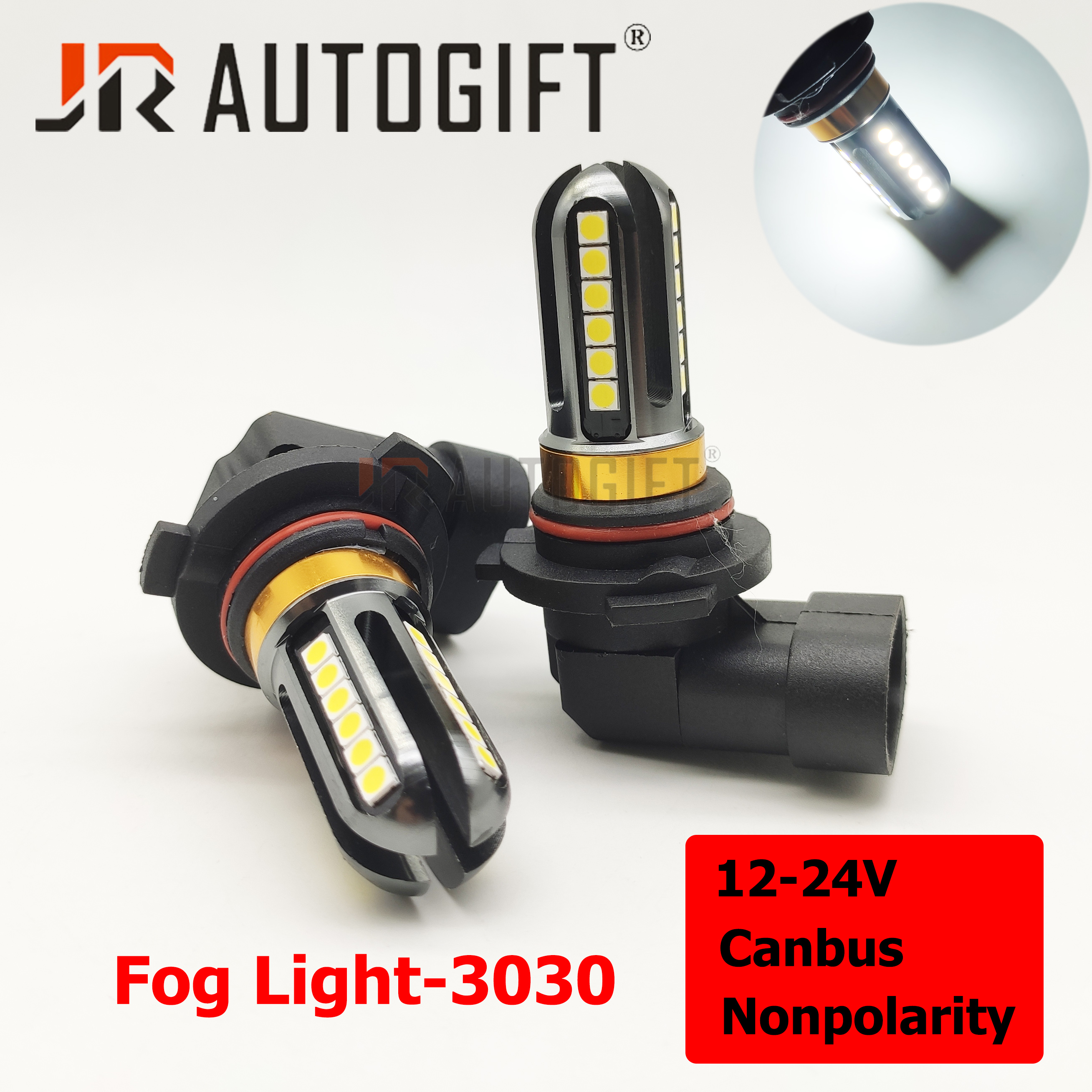 2x PSX24W H16 P13W H4 H11 H8 H7 9005 9006 HB4 HB3 H1 H3 3030 Chips 24LED 12-24V Canbus Fog Lights DRL Car Fog lamps Auto Bulbs
