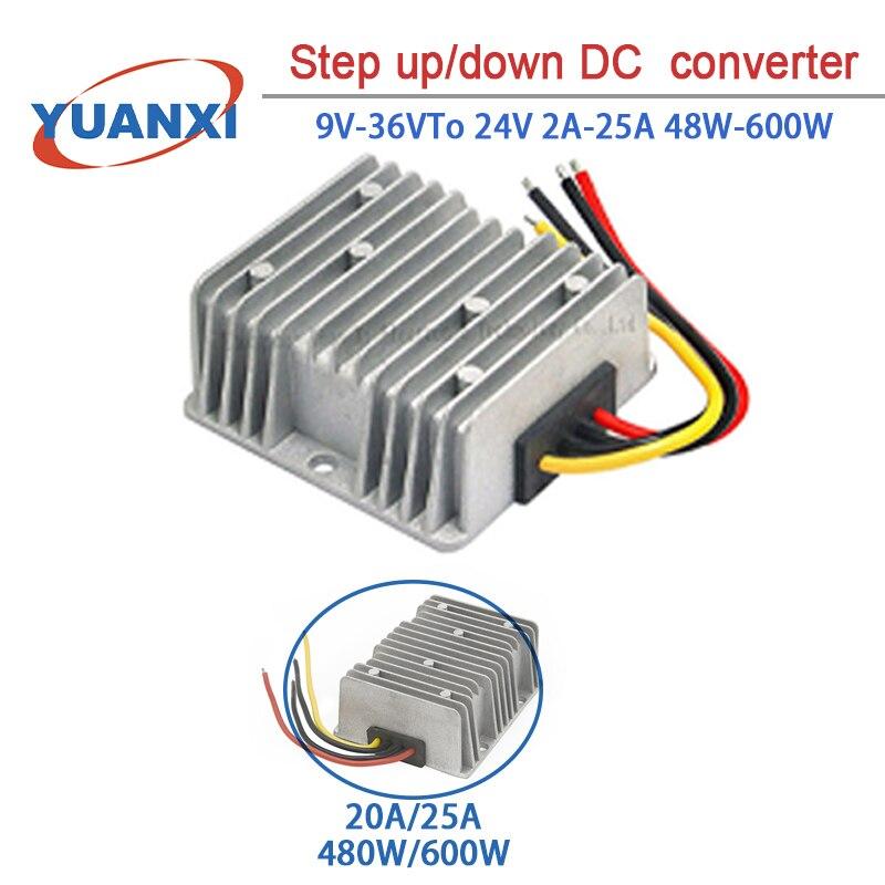 Step up/down DC Converter 9V-36V TO 12V 2A 3A 5A 10A 20A 25A 48W-600W  dc dc converter