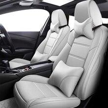 Housses de siège de voiture en cuir personnalisées, couvre siège de voiture, pour jeep renegade, accessoires boussole 2018 grand cherokee commandant