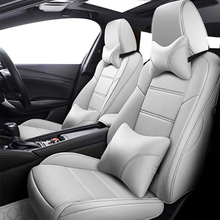 מותאם אישית רכב מושב עור כיסוי עבור jeep renegade אביזרי מצפן 2018 grand צ ירוקי מפקד מכסה עבור מושבים לרכב