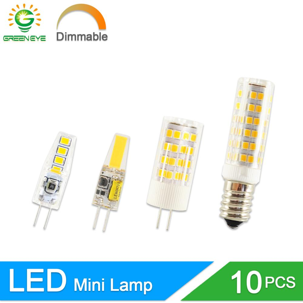 <font><b>LED</b></font> G4 Light G9 <font><b>COB</b></font> <font><b>Led</b></font> Lamp No Flicker Dimmable Ceramic <font><b>E14</b></font> Bulb SMD2835 AC220V DC12V 3W 6W 9W 10W 12W Replace Halogen G4 Lamp image