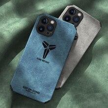 Skeypaik – coque de téléphone portable en cuir PU et daim, étui de luxe résistant aux chocs avec Protection dobjectif dappareil photo pour iPhone 12 11 Pro Max