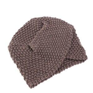 Image 5 - Мусульманская женская зимняя шапка, теплая шерстяная вязаная шапка, облегающая шапка для сна, головной убор для пациентов с раком