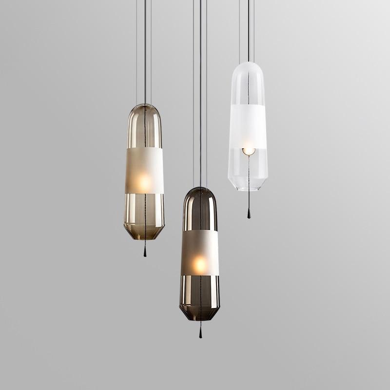 Modern Crystal Glass Ball Pendant Lights Nordic Gold Led Hanging Lamp Bedroom Suspension Luminaire Loft Industrial Home Decor