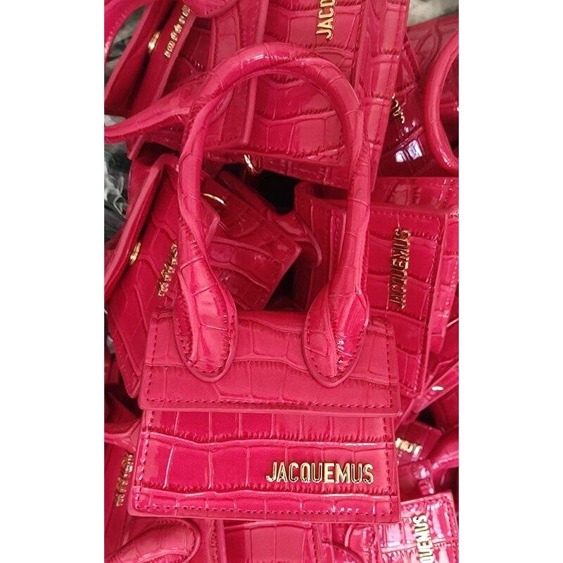 Image 4 - Small Totes Big handle Designer shoulder handbag Square Women  Crossbody bags Female Removable shoulder strap clutch bagTop-Handle  Bags