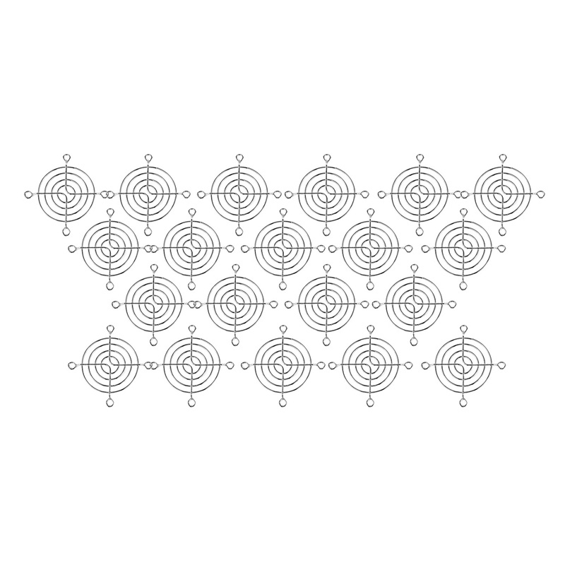 20pcs Silver Tone Metal Grill Protector Finger Guard for 60mm Case Fan|  -
