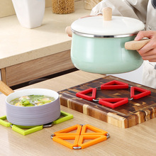 Silicone Table Mats Tableware Insulation Mat Collapsible Anti-hot Insulation Pad Non-slip Heat Resistant Mat Placemat Pot Holder 1pc multifunction foldable silicone table mats heat resistant non slip placemat kitchen accessories random color