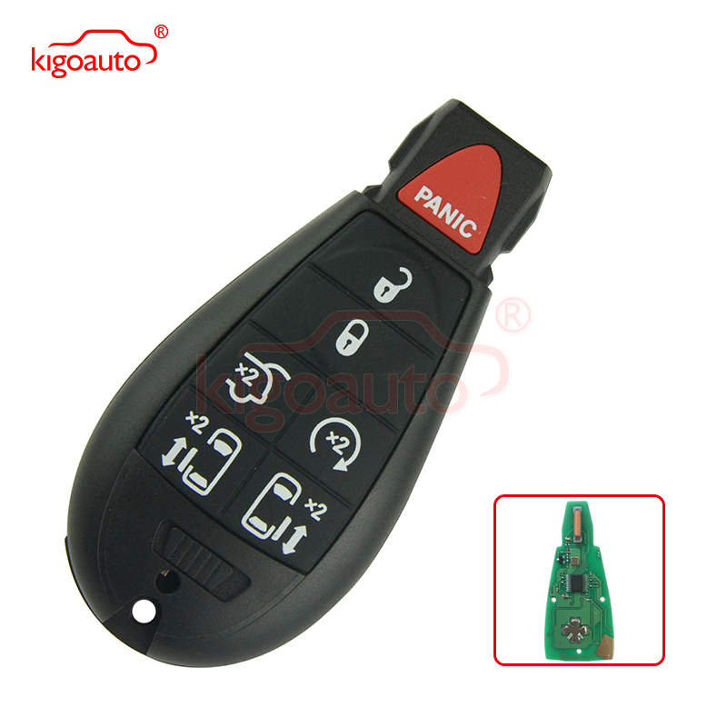 #10 Fobik key remote 6 button with panic 434Mhz IYZ-C01C M3N5WY783X for Chrysler Town & Country Mini Van smart key