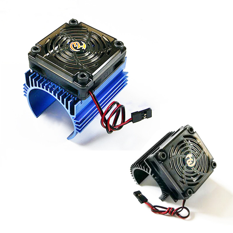 1pcs Original 1: 8 RC Car <font><b>Motor</b></font> Radiator + <font><b>5V</b></font> cooling <font><b>fan</b></font> assembly suit for 4465 3665/3674 <font><b>motor</b></font> image