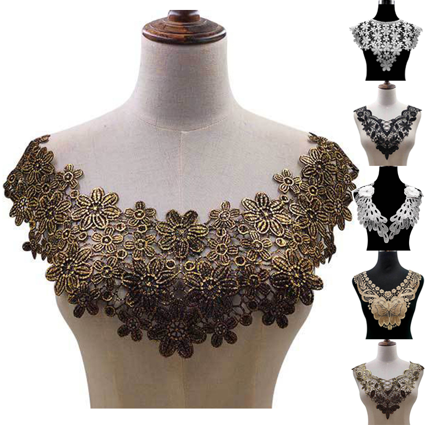 30 Style High Quality White Lace Fabic Embroidered Applique Neckline for Lace Fabric Sewing Supplies Scrapbooking Innrech Market.com