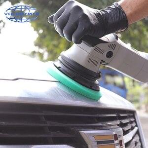 Image 5 - Carro polonês almofada almofadas de disco de polimento com 5 polegada gancho e loop para polir máquina de polimento detalhando espuma esponja auto accessorie
