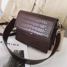 Coffee crossbody bag for women vintage PU leather high quality shoulder messenger bag small handbags designer bolsos mujer 2020