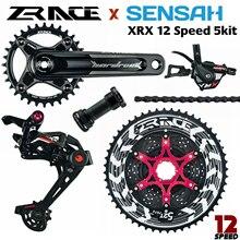 ZRACE x SENSAH XRX 12 Speed Crankset + Shifter + Rear Derailleur 12s + Alpha Cassette 52T / Chainrings + Chain  EAGLE GX / M9100