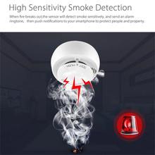 Bezprzewodowy detektor dymu Wifi czujnik dymu pożarowego sejf domowy bezpieczeństwo kontrola aplikacji bezpieczeństwo w domu chroń swój dom tanie tanio
