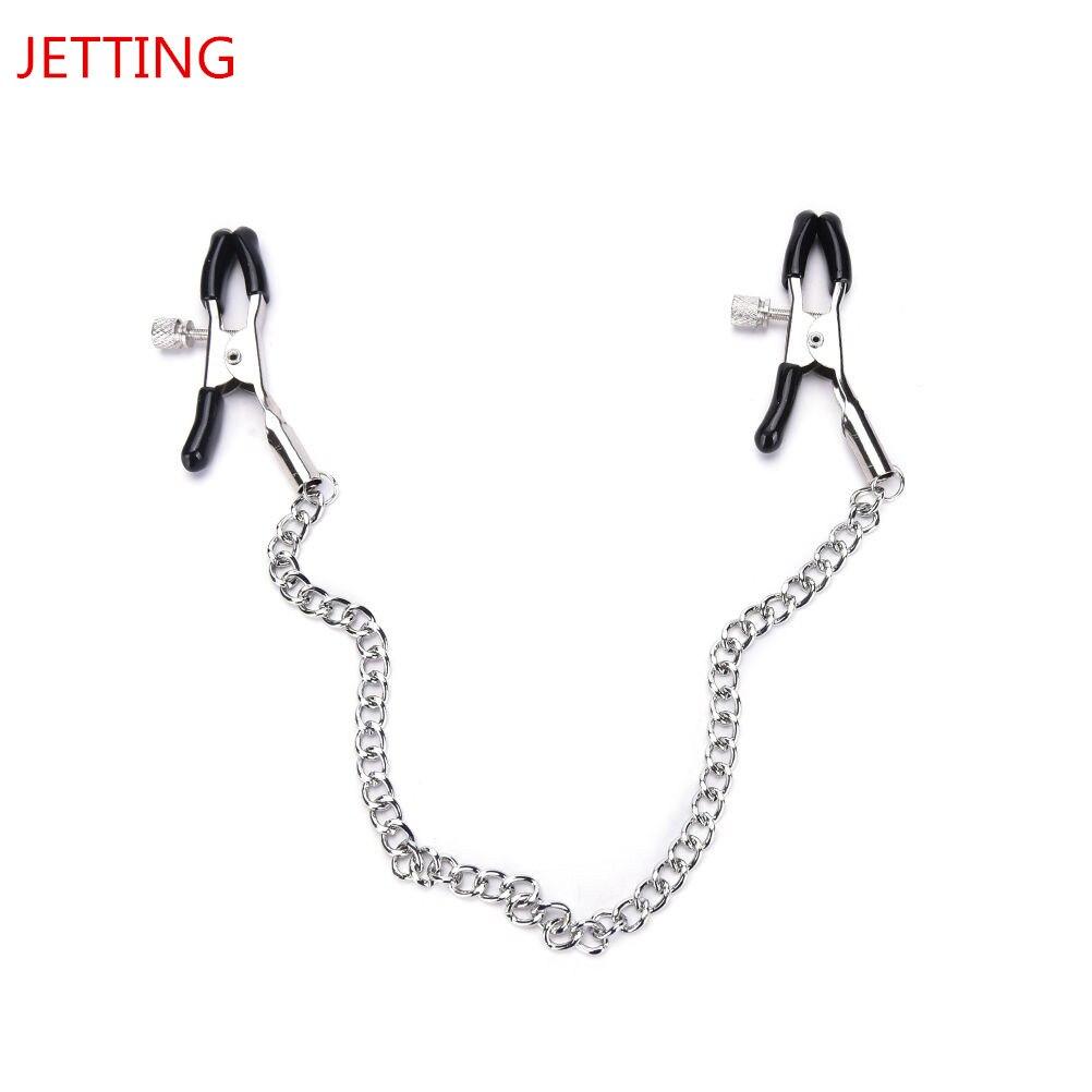 Pinces à mamelon sexe esclave chaîne en métal pince à poitrine SM Bondage sein jouet sexuel adulte jeu Clitoris pince pour Couples vêtements exotiques