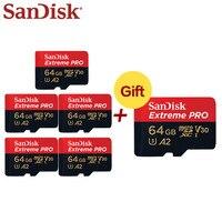 Buy 5 Get 1 Free Original SanDisk Memory Extreme Pro 128GB 64GB SDXC Micro SD Card Class 10 U3 A2 UHS-I V30 TF Card  Microsd