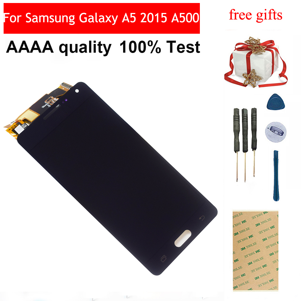 For <font><b>Samsung</b></font> <font><b>Galaxy</b></font> <font><b>A5</b></font> 2015 A500 A5000 A500F A500FU A500M A500Y A500FQ Touch <font><b>Screen</b></font> Digitizer + <font><b>LCD</b></font> Display Monitor Assembly image