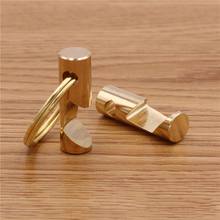 1pcs Brass High-grade Bottle Opener with Key Ring Beer Bar Tool New Chain Keys Holder Portable