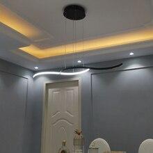 Matte Black Finished Modern led pendant lights for dining room kitchen Room Shop Home Deco New Arrival Aluminum Pendant Lamp