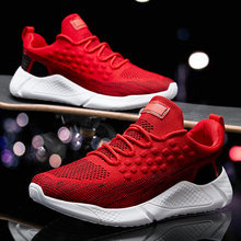 Tênis de verão sapatos masculinos 2020 novo plus size 39-46 confortáveis sapatos casuais de malha respirável mocassins sapatos apartamentos calçados