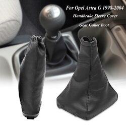 Cuoio Dell'unità di Elaborazione di Copertura Del Freno a Mano E Del Cambio Bastone Boot Ghetta Cover per Opel/Vauxhall Astra G 1998-2004 coupe 2000-2004