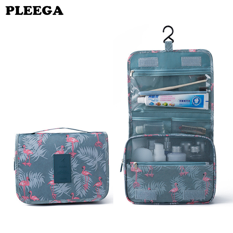 PLEEGA High Quality Make Up Bag Hanging Cosmetic Bags Waterproof Large Travel Beauty Cosmetic Bag Personal Hygiene Bag Organizer