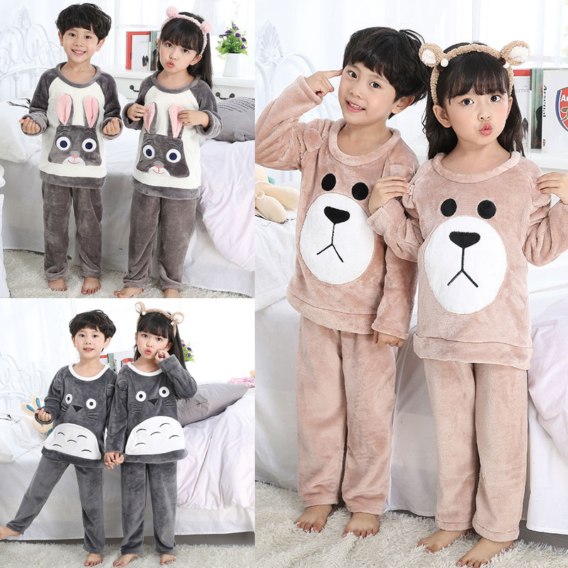 (Multi--Selectable) Child Velvet Men And Women Children Coral Velvet 6 Pieces Code 8-18 Code Three-Flannel