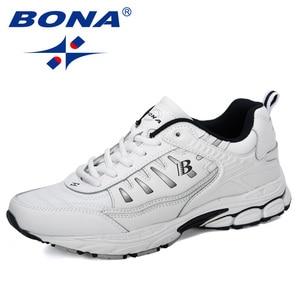 Image 5 - BONA 2019 Yeni Tasarımcı Açık Erkekler koşu ayakkabıları Inek Bölünmüş Koşu Yürüyüş spor ayakkabı Dantel up Athietic Spor Ayakkabı Adam Moda