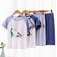 2-10Years Kids Boys Summer Clothing Set Cotton Dinosaur Printing T-shirt Shorts Sets Children Home Wear Sets