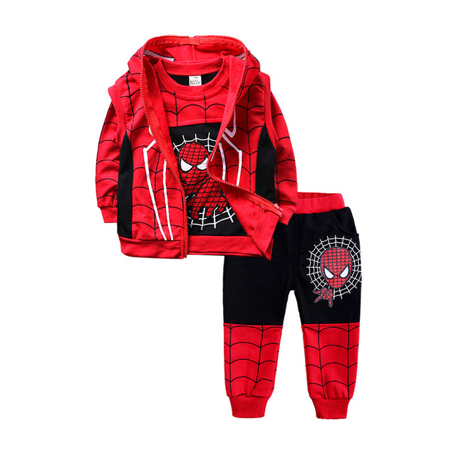 Children Batman Spiderman Costume Clothing Set 5
