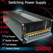 Smps Power Supply schalt 2000W 24v 36v 48v 55v 60v 72v fahrer power versorgung LED-Licht CCTV Stepper transformator AC-DC SMPS(China)