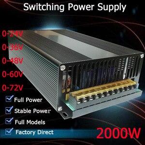 smps Power Supply switching 2000W 24v 36v 48v 55v 60v 72v driver power supply LED Light CCTV Stepper transformer AC-DC SMPS(China)
