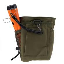 Detecção de metais bolsa saco digger fonte tesouro cintura sorte recuperação encontra saco pinpointer pá detector de metais saco