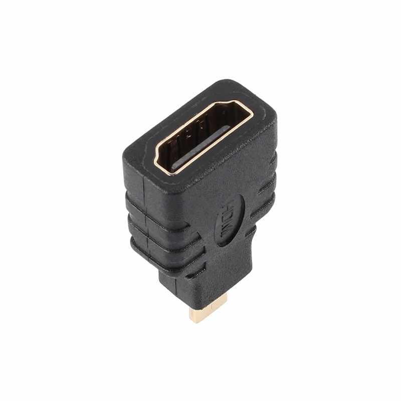 1/2/5 Uds Micro HDMI macho A HDMI hembra Adaptador tipo D A HDMI Adaptador convertidor conector para Xbox 360 para PS3 HDTV