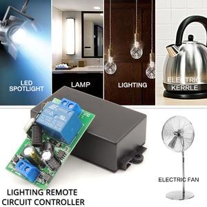 Image 2 - Beleuchtung Wireless Controller AC 85 ~ 250V 10Amp 2200W rf Relais Empfänger Bord und sicherheit rf Sender 4 banden für Birnes Pumpe Fan