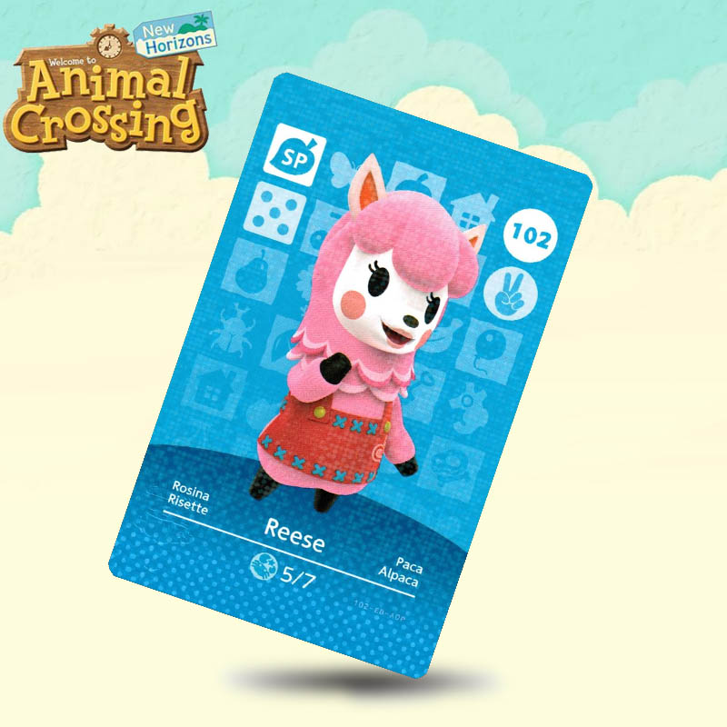 102 Reese Animal Crossing Card Amiibo Cards Work For Switch NS 3DS Games