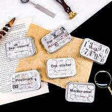 Винтажный почтовый знак растения этикетка записываемая бумага стикер украшения наклейки DIY для рукоделия дневник в стиле Скрапбукинг планировщик этикетка наклейка