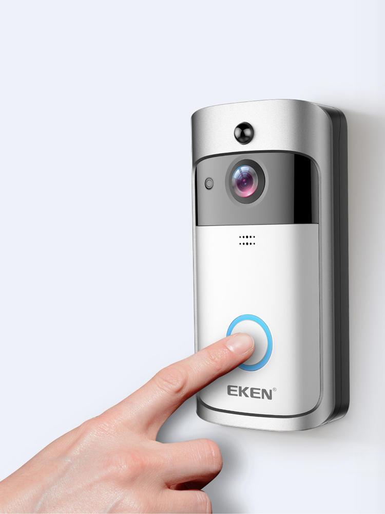 Video Doorbell Phone Visual-Recording Wifi Home-Monitor Night-Vision Security Smart EKEN