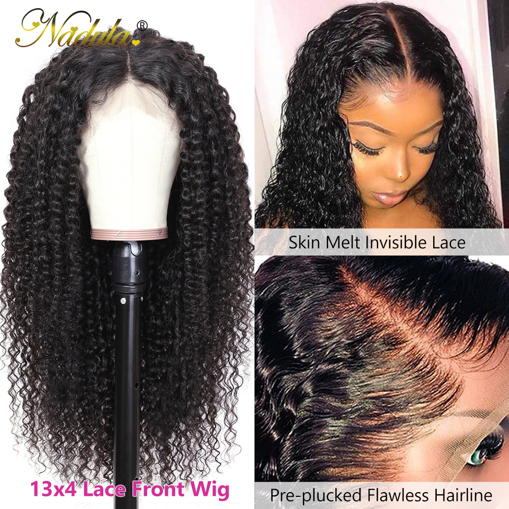 Nadula Curly  Wigs 13x4 Lace Front  Wigs 10-24 Lace Wig  Hair Lace Front Wig Pre plucked with Baby Hair 3