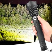 مصباح ليد جيب بطارية فانوس ضوء كري 8000lm Xhp70.2 2 قطعة 18650 أو 26650 مقاومة للصدمات ، الدفاع الصلب لمبات قابلة للشحن