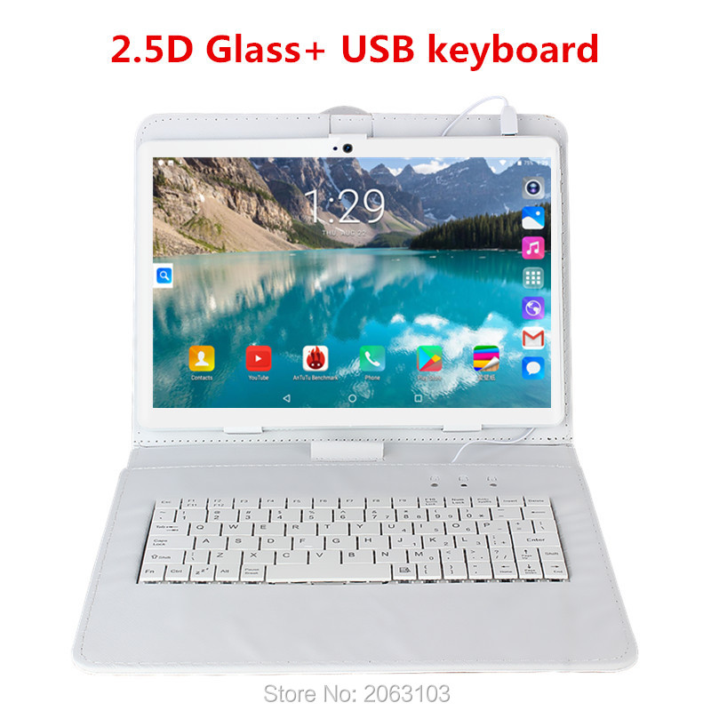 Tablet PC 10 Inch 3g 4g Tablet Octa Core 1920*1200 Ips 6g+64gb Rom+keyboard Android 9.0 Gps Bluetooth Dual Sim Card Phone Call