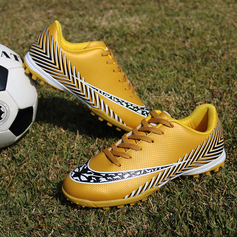 Soccer Cleats Shoes Football-Boots Fg Gold Training-Trainers Outdoor Black Men Girls