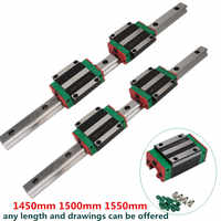 High precision with heavy duty 20mm 1450mm 1500mm 1550mm linear guide rail HGR20 for CNC machinery
