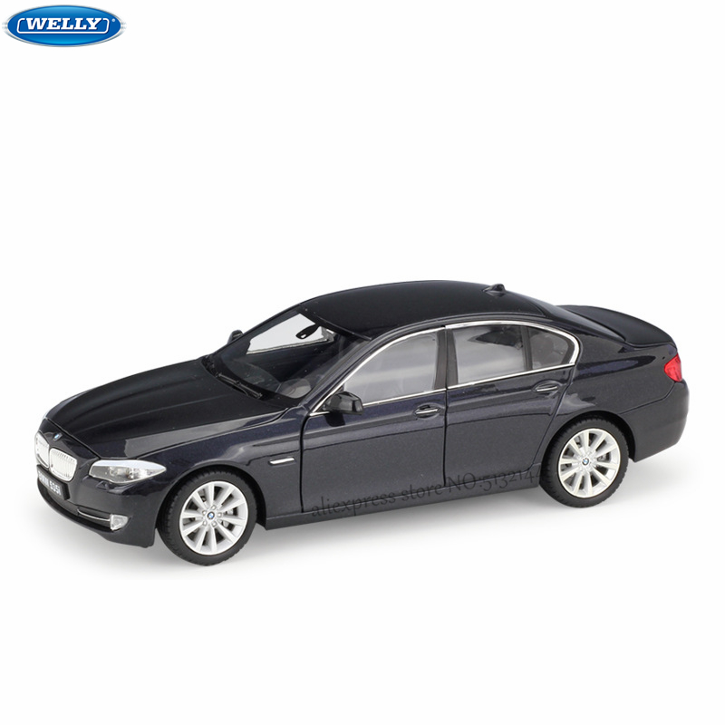 WELLY 1:24 BMW 535 Series Sports Car Simulation Alloy Car Model Crafts Decoration Collection Toy Tools Gift