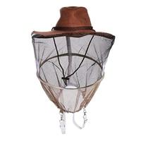 Profissional chapéu de apicultura chapéu de cowboy apicultor anti mosquito abelha na seita véu net chapéu rosto cheio pescoço envoltório protetor|Ferramentas de apicultura|   -