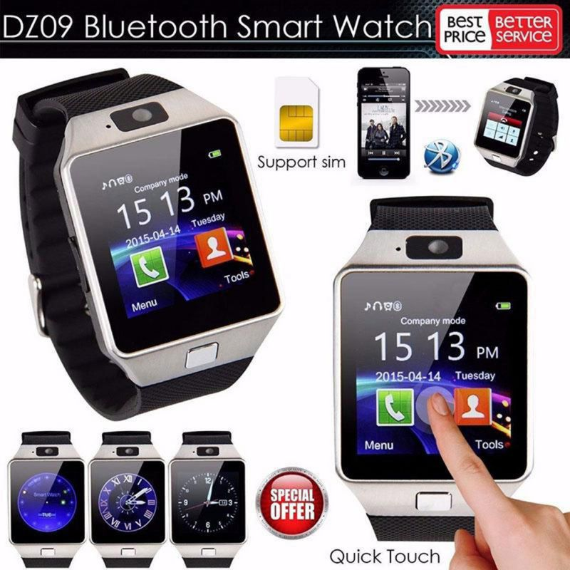 DZ09 Bluetooth Smart Watch 2G GSM SIM Phone Call Support TF Card Camera Wrist Watches for iPhone Samsung HuaWei Xiaomi