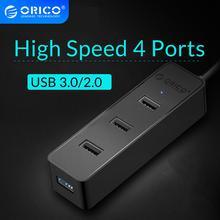 ORICO Multi USB 2.0 3.0 4 Ports HUB 5Gbps High Speed USB3.0 Splitter for Laptop Computer Phone Tablet Mac OS